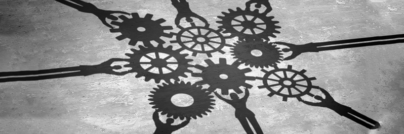 The Strategic Alliances of Nonprofits | coworkers with gears
