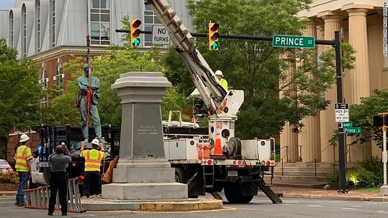 confederate statue removed in alexandria, va