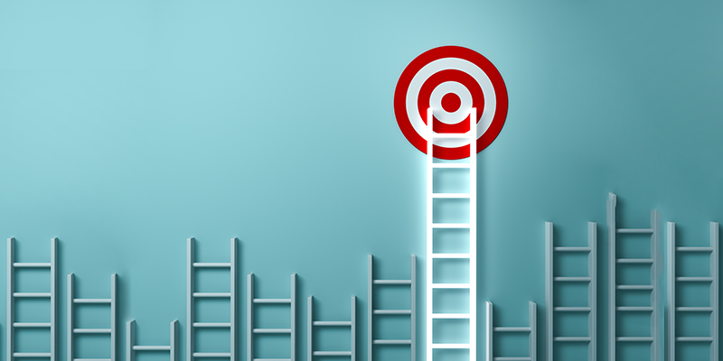 Fundraising goals | Ladder leading to target
